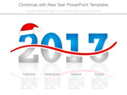 Christmas With New Year Powerpoint Templates