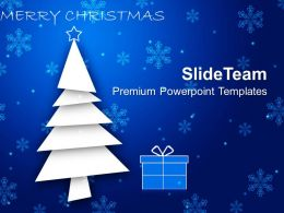 Christmas Wreaths Images Of Blue Background With Gifts Powerpoint Templates Ppt For Slides