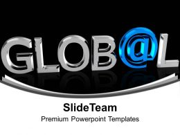 Chrome Letters Spelling The Word Global Powerpoint Templates Ppt Themes And Graphics 0113