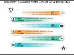 Chronology Info Graphic Vector Concept In Flat Design Style