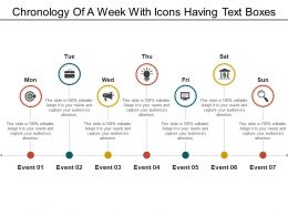 Chronology Of A Week With Icons Having Text Boxes