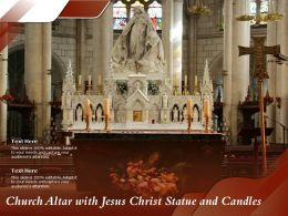 Church Altar With Jesus Christ Statue And Candles
