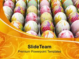 Church Easter Collection Of Eggs For Festival Powerpoint Templates Ppt Backgrounds Slides