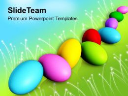 Church Easter Colorful Eggs Spring Festival Powerpoint Templates Ppt Backgrounds For Slides