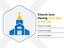 Church Icon Having Plus Sign At The Top