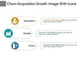Churn Acquisition Growth Image With Icons