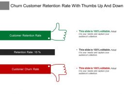 Churn Customer Retention Rate With Thumbs Up And Down