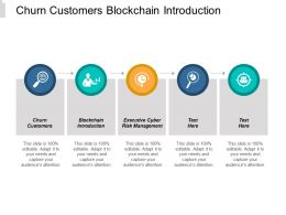 Churn Customers Blockchain Introduction Executive Cyber Risk Management Cpb