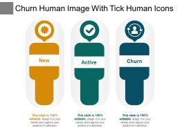 Churn Human Image With Tick Human Icons