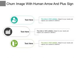 Churn Image With Human Arrow And Plus Sign