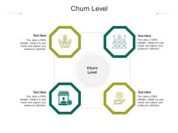 Churn Level Ppt Powerpoint Presentation Show Design Templates Cpb