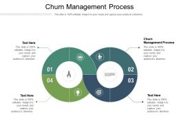 Churn Management Process Ppt Powerpoint Presentation Styles Brochure Cpb