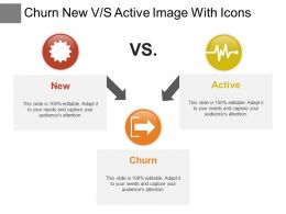 Churn New Vs Active Image With Icons