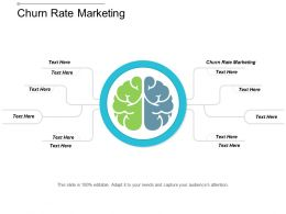Churn Rate Marketing Ppt Powerpoint Presentation Ideas Microsoft Cpb