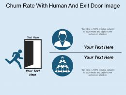 Churn Rate With Human And Exit Door Image