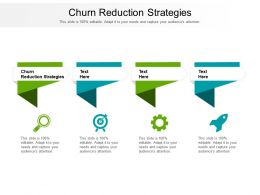 Churn Reduction Strategies Ppt Powerpoint Presentation Inspiration Objects Cpb