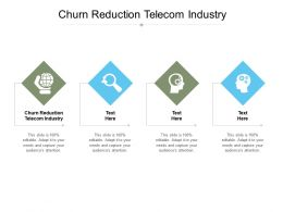 Churn Reduction Telecom Industry Ppt Powerpoint Presentation Shapes Cpb