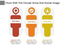 Churn With Tick Circular Arrow And Human Image