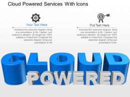 ci Cloud Powered Services With Icons Powerpoint Template