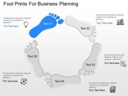 ci Foot Prints For Business Planning Powerpoint Template
