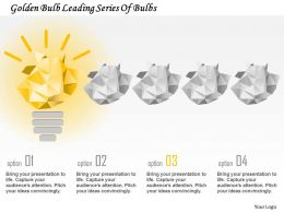 Ci Golden Bulb Leading Series Of Bulbs Powerpoint Template
