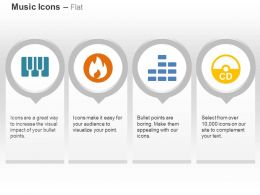 Ci Piano Fire Symbol Cd Volume Control Ppt Icons Graphics