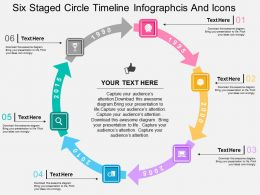 ci Six Staged Circle Timeline Infographcis And Icons Flat Powerpoint Design