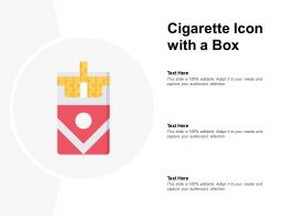 Cigarette Icon With A Box