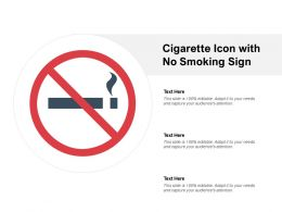 Cigarette Icon With No Smoking Sign