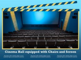 Cinema Hall Equipped With Chairs And Screen