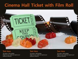Cinema Hall Ticket With Film Roll