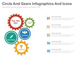 Circle And Gears Infographics And Icons Flat Powerpoint Design