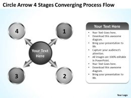 circle_arrow_4_stages_converging_process_flow_charts_and_powerpoint_templates_Slide02