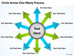 Circle Arrow One Many Process 10 5