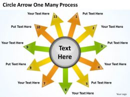 Circle Arrow One Many Process 11 5