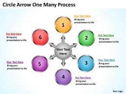 Circle Arrow One Many Process 11