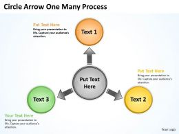 Circle Arrow One Many Process 3 10