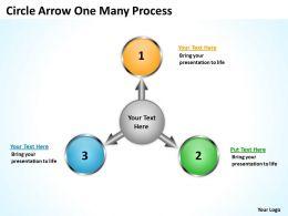 Circle Arrow One Many Process 3 9