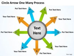Circle Arrow One Many Process 5