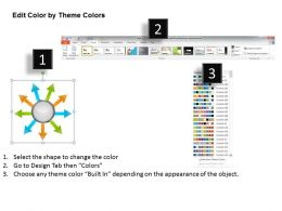 13607527 Style Linear 1-Many 9 Piece Powerpoint Template Diagram Graphic Slide