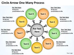 Circle Arrow One Many Process 6