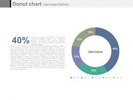 Circle Donut Chart With Percentage Graph Powerpoint Slides