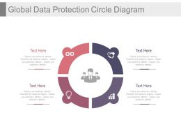 Circle For Global Data Protection Diagram Powerpoint Slides