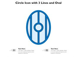 Circle Icon With 3 Lines And Oval