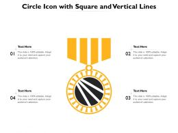 Circle Icon With Square And Vertical Lines