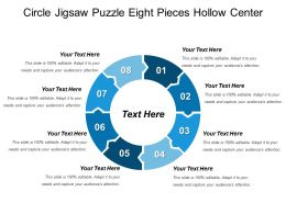 Circle Jigsaw Puzzle Eight Pieces Hollow Center