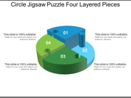 Circle Jigsaw Puzzle Four Layered Pieces