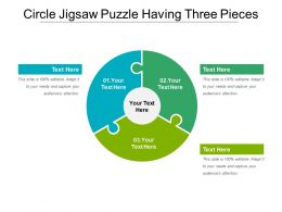 Circle Jigsaw Puzzle Having Three Pieces