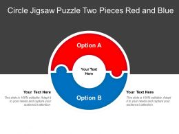 Circle Jigsaw Puzzle Two Pieces Red And Blue