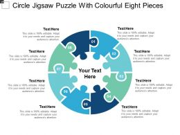 Circle Jigsaw Puzzle With Colourful Eight Pieces